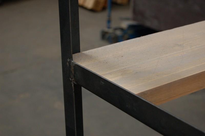 Open Kasten Stellingkast  Stellingkast opbergrek steigerhout en staal treet